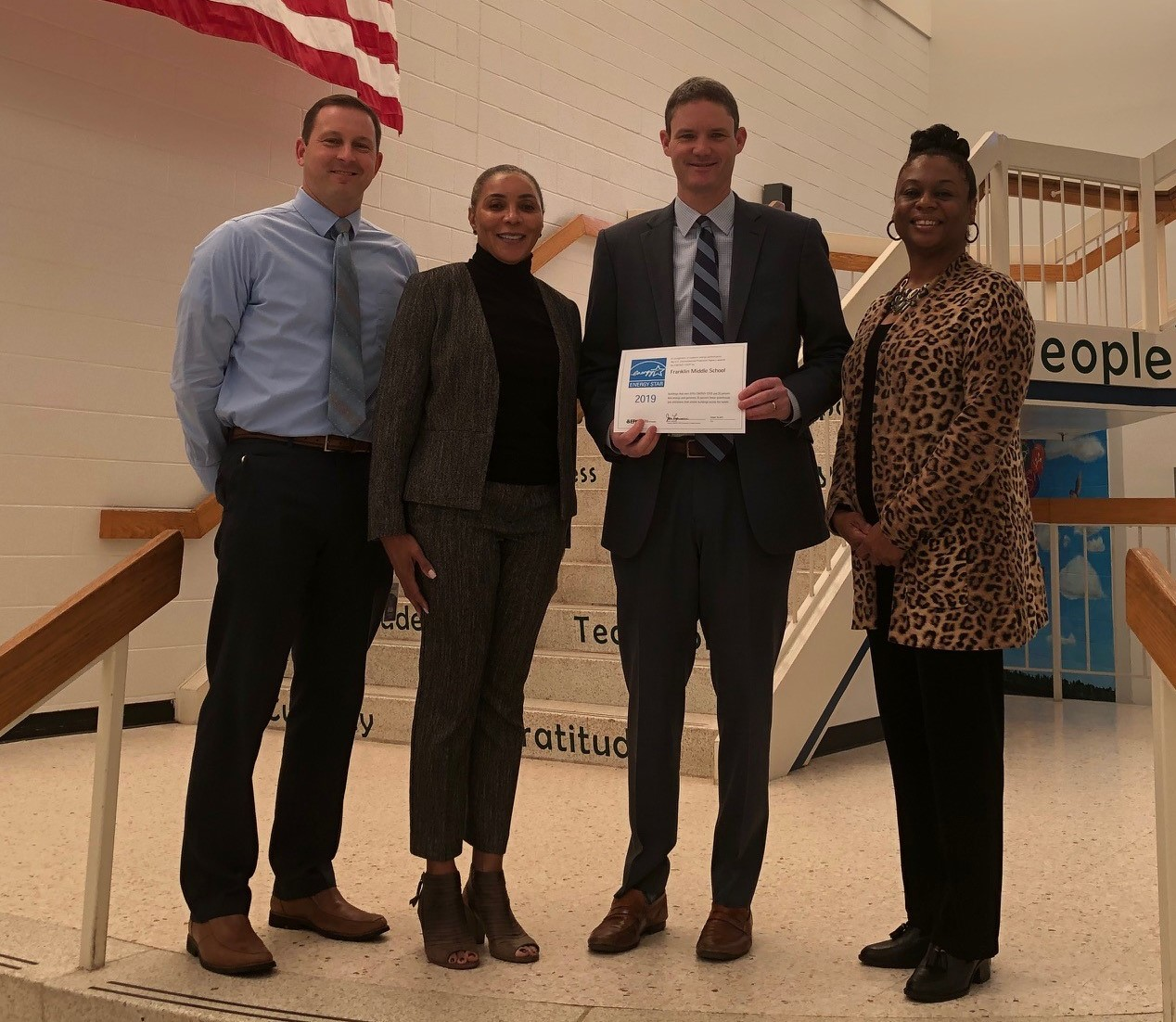 Franklin MS Admin Team with Energy Star Certification