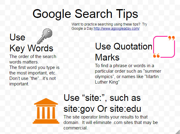 Tips for using the Google search engine